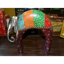 Mango elephant with round back and head in white GM metal