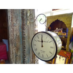 English style double side station clock - small size 21 cm