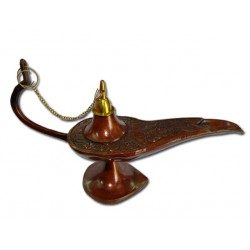 Aladdin lamp in bronze - medium model 22 cm