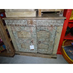Indian buffet with two old old shutters doors