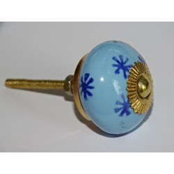 Drawer knobs with sky blue and ultramarine blue star