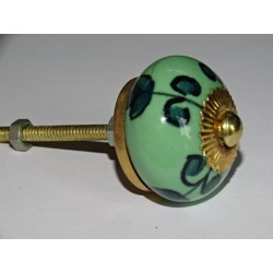 Spring green and emerald flower drawer or door knobs