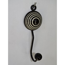 round black coat hook with embossed spiral