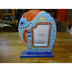 Photo frame 15x10 cm elephant design hand painted in blue