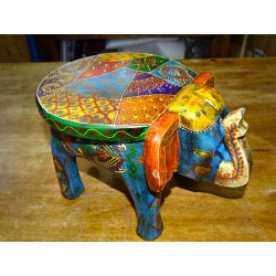 Small elephant carved and hand painted in 27 cm - 1