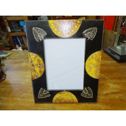 Photo frame 15x20 cm painted in relief dimension 15x30 cm - 1