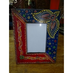Frame for photo 10x15 cm painted in relief dimension 20x25 cm - 5