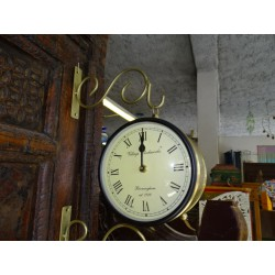 Double-sided station clock English style - small model 16 cm - gold