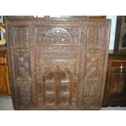 Hand carved window panel