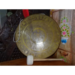 Tibetan gong diameter 46 cm with auspicious signs of Buddhism