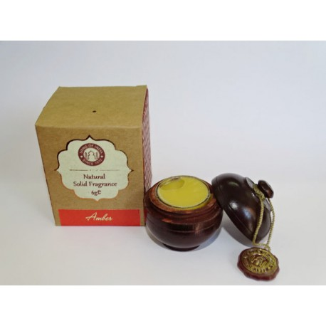 Solid perfume in organic amber wax SONG OF INDIA (6 Grs)