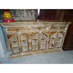 large sideboard with 6 alcove doors and 3 drawers