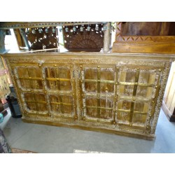 High enfilade rosewood 4 doors and 4 drawers