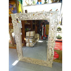 Large hand-carved Indian mirror 120 x 90 cm - 2