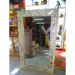 Large hand-carved Indian mirror 150 x 90 cm
