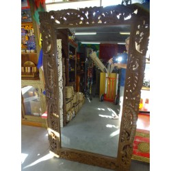 Large hand-carved Indian mirror 150 x 90 cm - 2