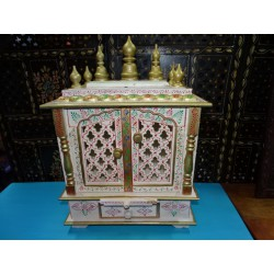 White and gold indoor temple for pujas - MM