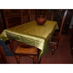 Taffeta brocade tablecloths 150x225 cm light green