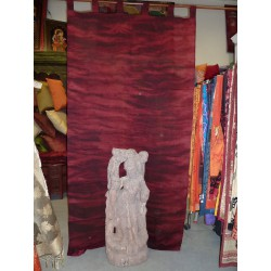 Burgundy organza curtains waves