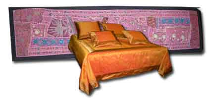 Head of textile bed
