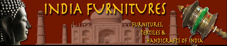 India furnitures - old and new Indian furniture.