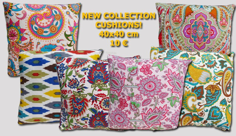 New range of printed cotton cushions